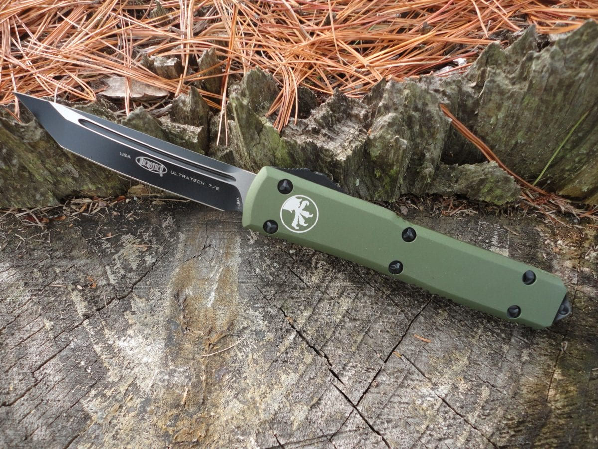 Microtech 123-1OD, OD Green Handle Ultratech