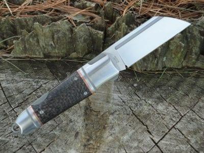 ADV Tactical Custom Lock Back Pocket Butcher - Carbon Fiber/Copper