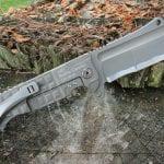 ADV Tactical Battle Cleaver-Grey Frag-Bead Blast Combo Blade