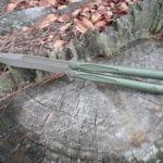 Microtech 173-13OD Tachyon III Balisong/Butterfly - OD Handles/Bronze Blade