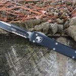Microtech 121-2, Single Edge Partially Serrated Blade Ultratech