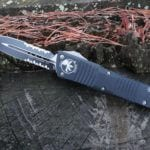 Microtech 142-2 Black Double Edge Dagger Blade Combat Troodon