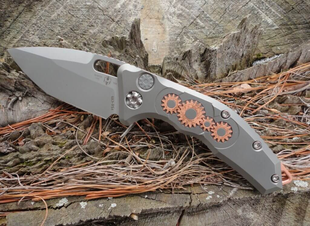 Heretic Knives H011-TI-3A-DB Martyr, Limited Edition Gear Model