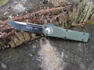Microtech 143-1OD Combat Troodon - OD Green Handle, Black Blade