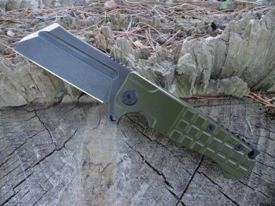 ADV Tactical Mini Warhulk-OD Green Frag Handle-Black Warhulk Blade