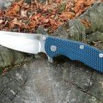 Hinderer XM-18 3.5 Skinny Sheepsfoot - Blue/Black
