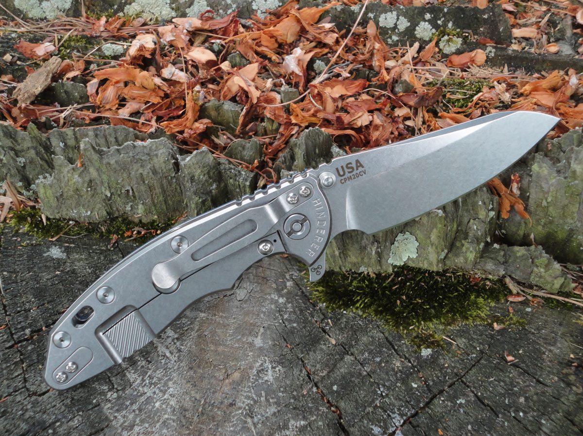 Hinderer XM-18 3.5 Skinny Sheepsfoot - Dark Gray
