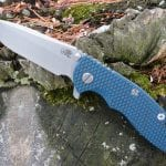 Hinderer XM-18 3.5 Spanto Working Finish - Blue/Black