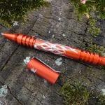 """Hinderer Investigator Pen """"Flames""""-Matte Orange"""