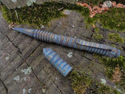 Hinderer Extreme Duty Spiral Pen-Titanium-Flamed