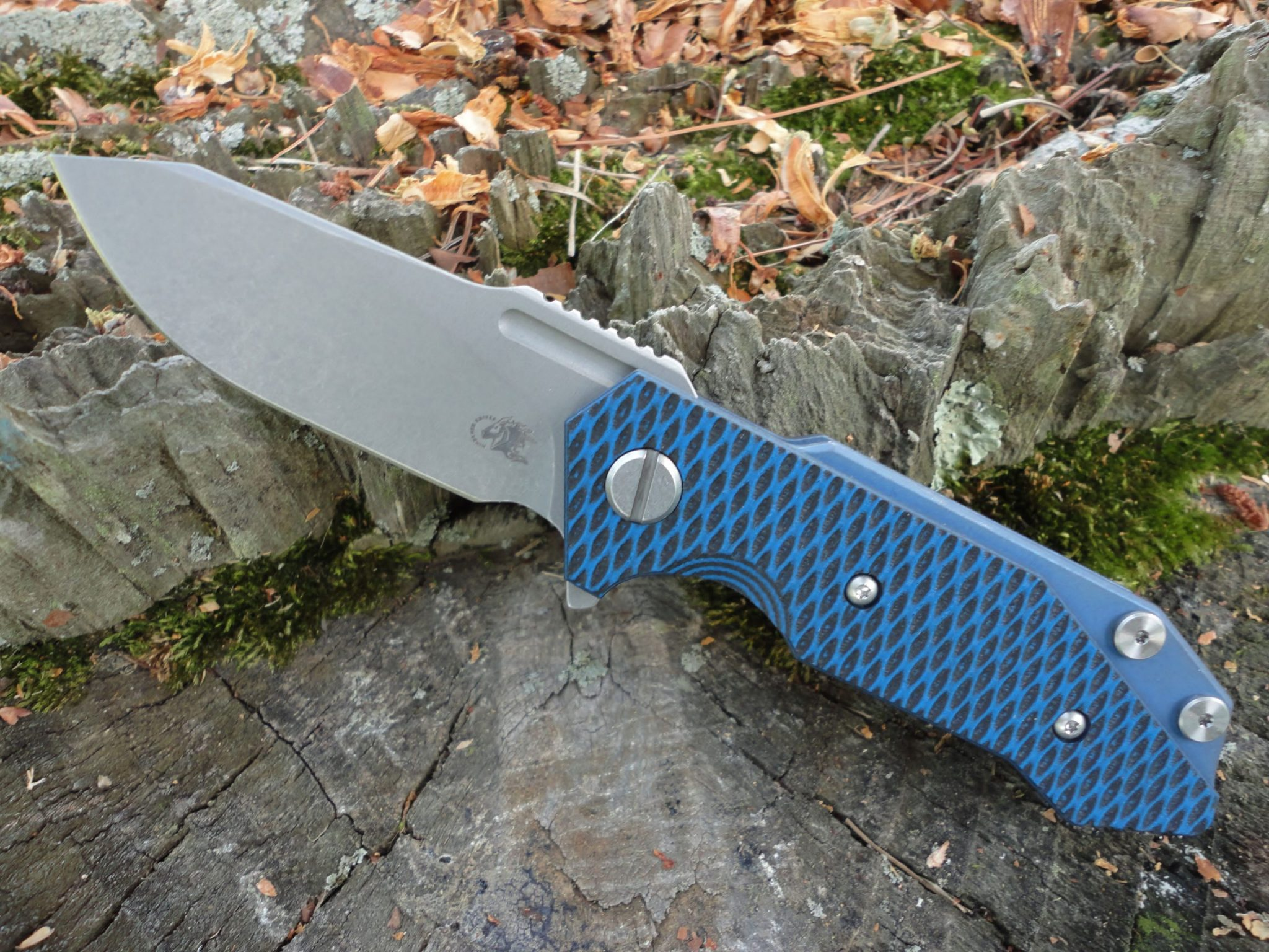Hinderer Half Track Slicer Battle Blue - Blue/Black