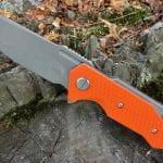 Hinderer Half Track Slicer - Orange G-10