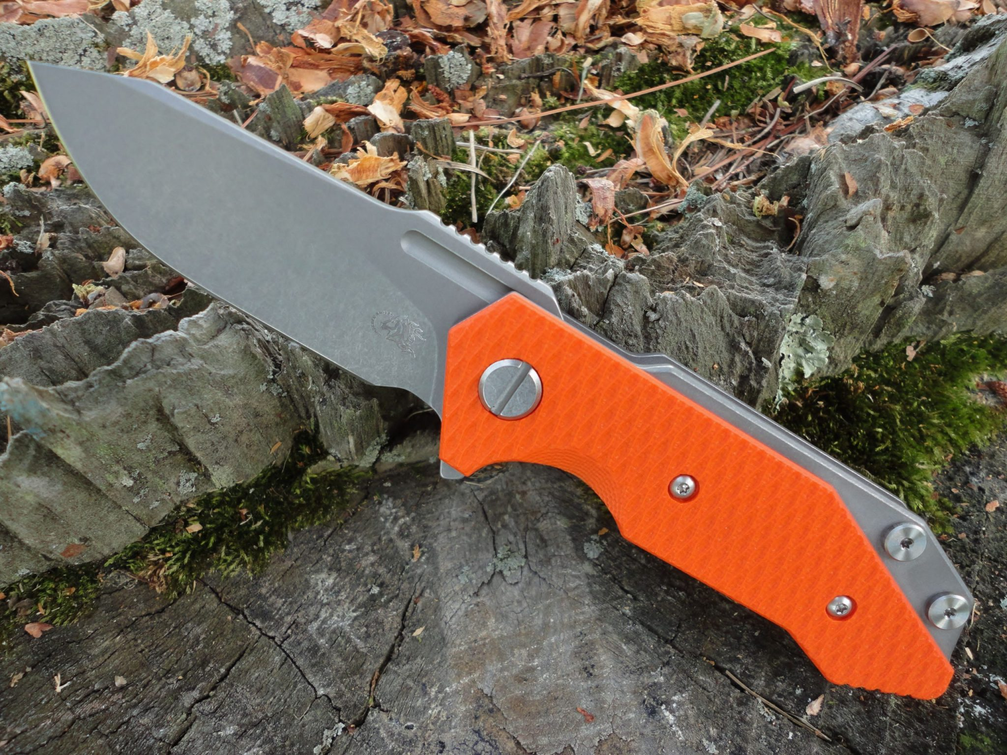 Hinderer Half Track Slicer - Orange G-10