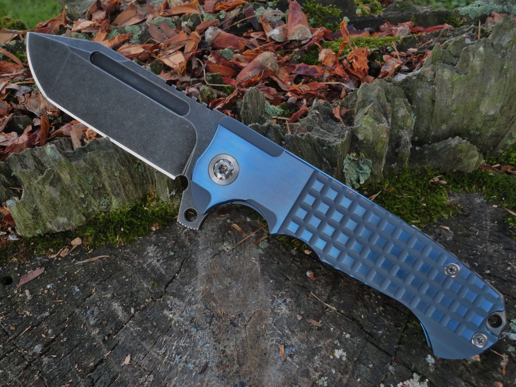 ADV Tactical Tanto-Blue Frag
