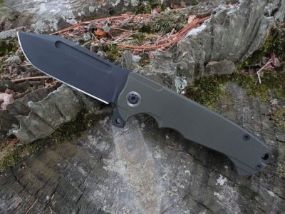 ADV Tactical Tanto-OD Handle-Black Blade