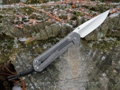 Chris Reeve Large Sebenza 31-Black Canvas Micarta