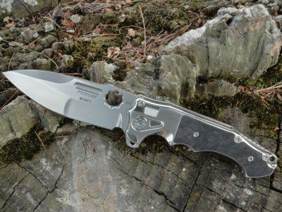 ADV Tactical Mini PitBoss-Marbled CF/Bead Blast Blade