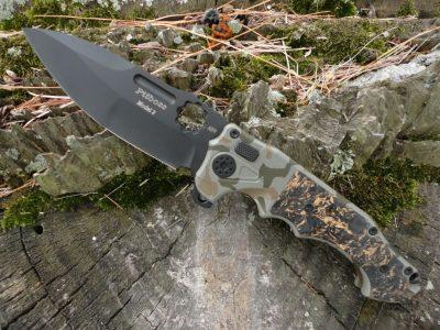 ADV Tactical Mini PitBoss-Camo-Copper Shred/Black Blade
