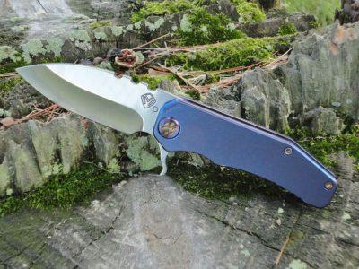 Medford 187 DP Flipper - Blue Ti Handle
