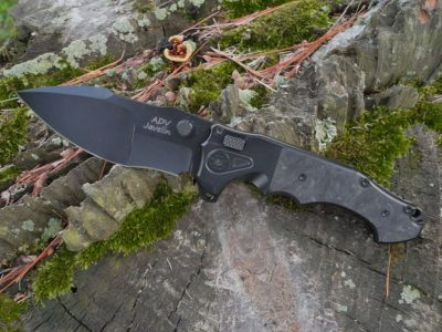 ADV Tactical Javelin-Marble CF/Black Blade