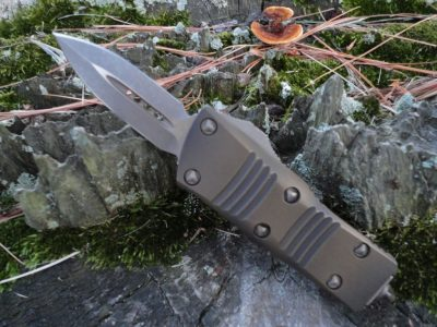 Microtech 238-13APABS Mini Troodon-Antique Bronze
