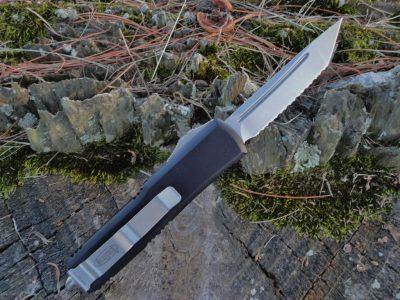 Microtech 233-12 Stonewash Tanto UTX-85